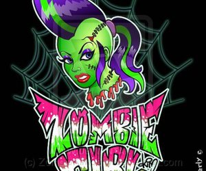 girl, green, and psychobilly image