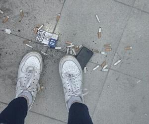 cigarette, grunge, and smoke image