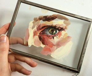 art, eye, and painting image