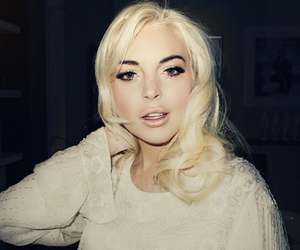 lindsay lohan, blonde, and pretty image