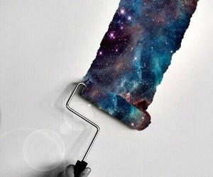 galaxy, paint, and space image