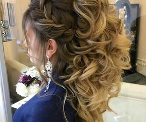 rubia, cabello, and peinados image