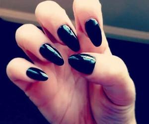 black, nailart, and nails image