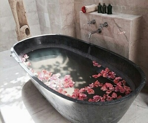 bath, decorations, and home image