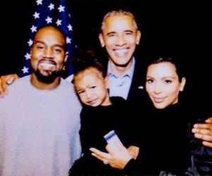 Barak Obama, north west, and love image