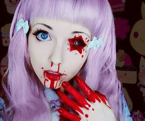 blood, pastel goth, and cosplay image