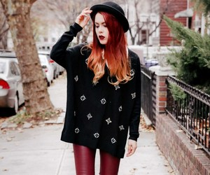 fashion, red hair, and street style image