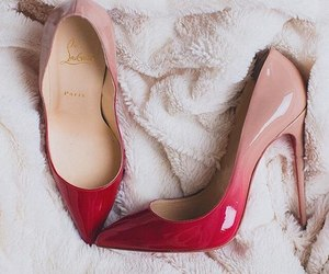 shoes, ombre, and heels image