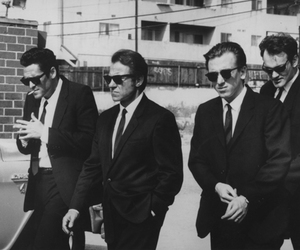 reservoir dogs, black and white, and quentin tarantino image