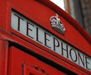 red, telephone, and england image