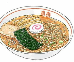 food, ramen, and anime image