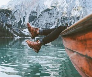 adventure, boots, and travel image
