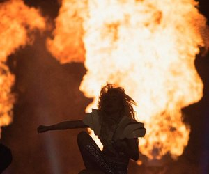 Lady gaga, fire, and super bowl image