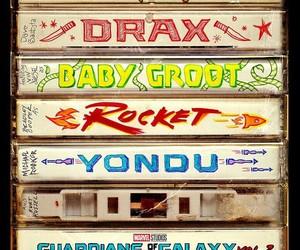 rocket, drax, and gamora image