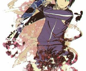anime, yato, and blue eyes image