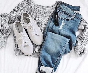 clothes, outfit, and jeans image