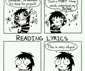 funny, music, and sarah andersen image