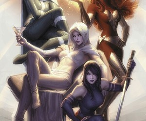 girl, emma frost, and heroes image