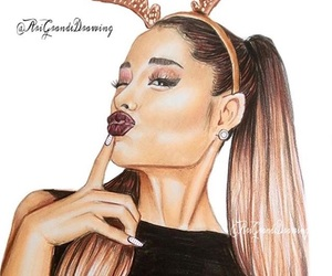 draw, illustration, and ariana image