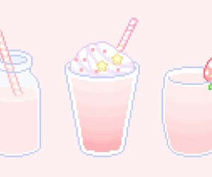 pink, pixel, and cute image