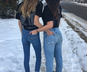 jeans, matching, and photoshoot image