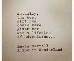 adventure, quote, and alice in wonderland image