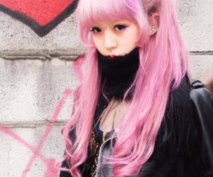 hair, pink hair, and japanese image