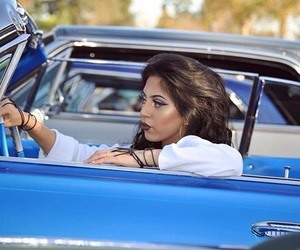 lowrider and chicana image