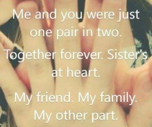 best friend, hands, and sisters image