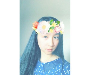 asian, flower's, and snapchat image