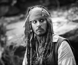 jack sparrow, johnny depp, and pirates image