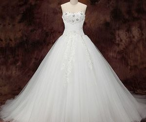 wedding dress, wedding dresses, and lace wedding dress image