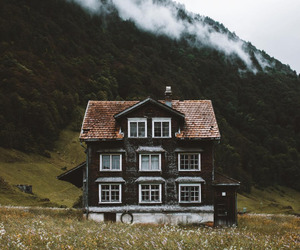 house, nature, and mountains image