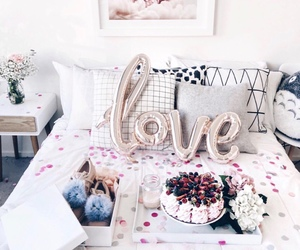bedroom, cake, and interior image