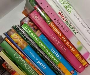 baking, books, and bookshelf image