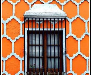 facade, orange, and orange and white image