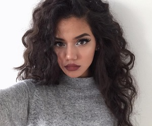 black, eyebrows, and fashion image