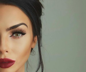 girl, makeup, and make up image