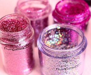 mac, pink, and glitter image