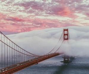 bridge, clouds, and san francisco image