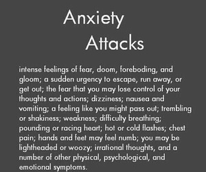 anxiety, depression, and anxiety attack image