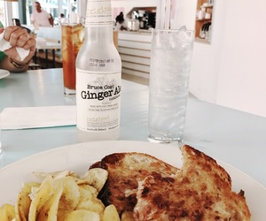 drink, ginger, and grilled cheese image