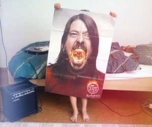 bed, child, and dave grohl image