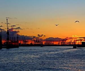 hamburg, harbour, and ocean image