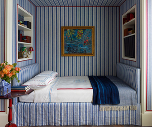 bedroom, blue, and home image
