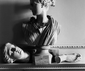 black and white, bust, and greek image