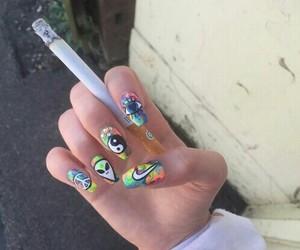 cigarette, alien, and nails image
