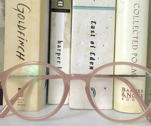 glasses, pastel, and books image