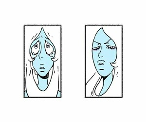 faces, blue diamond, and steven universe image
