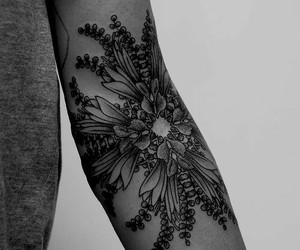 tattoo, flowers, and arm image